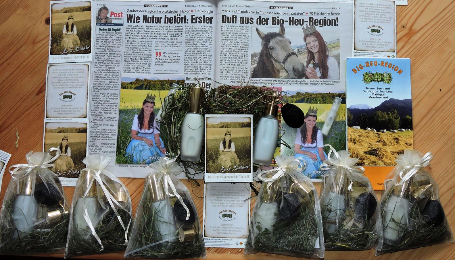 Bio-Heu-Region, Königinnenduft, Biodorf Seeham 2, Kronen Zeitung, Heukönigin Maria (3)