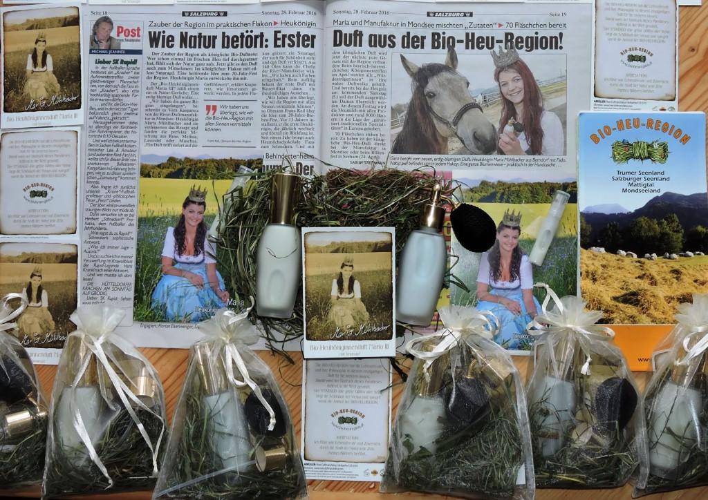 Bio-Heu-Region, Königinnenduft, Biodorf Seeham 2, Kronen Zeitung, Heukönigin Maria (2)