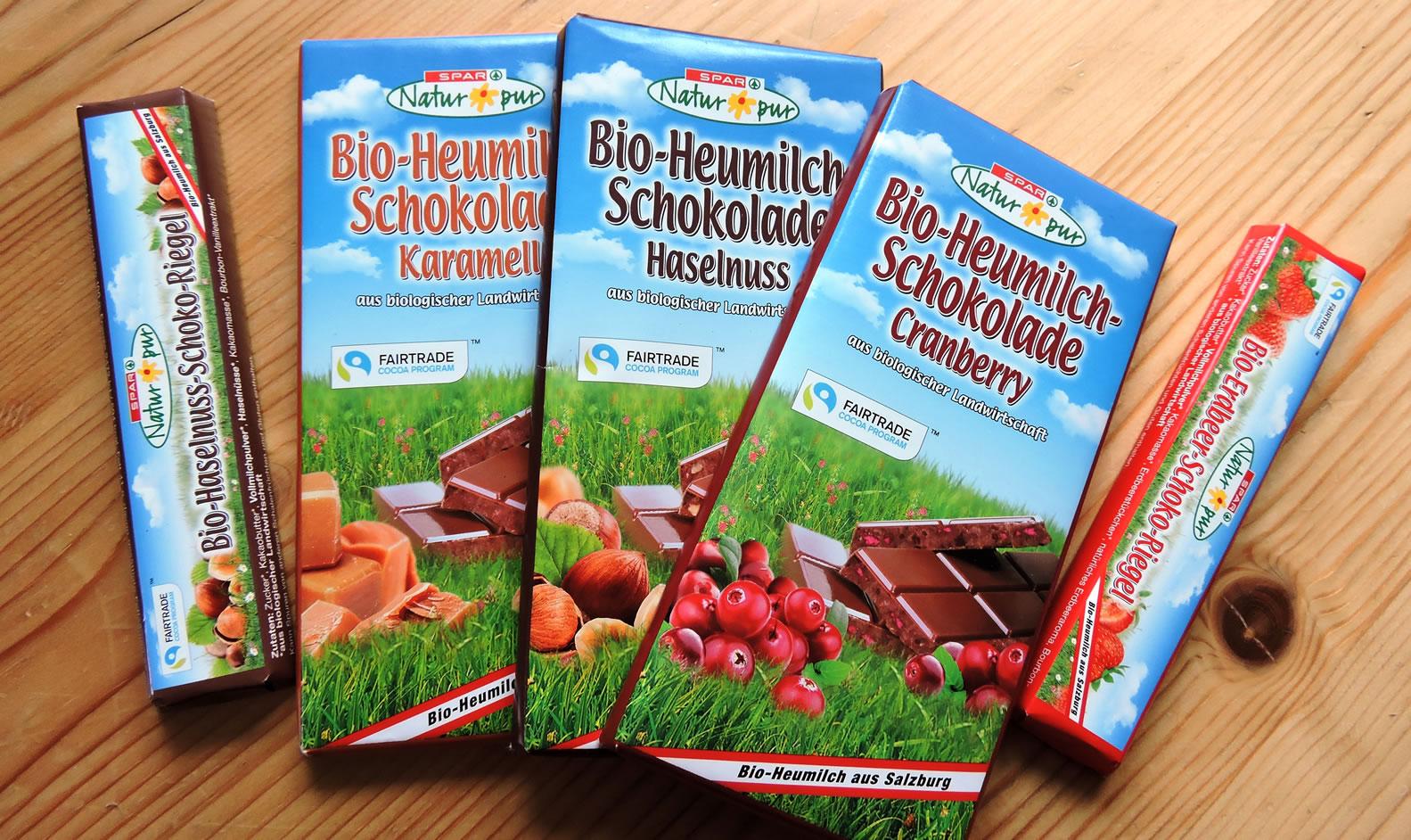 Bio Heumilch Schokolade Spar Natur 2