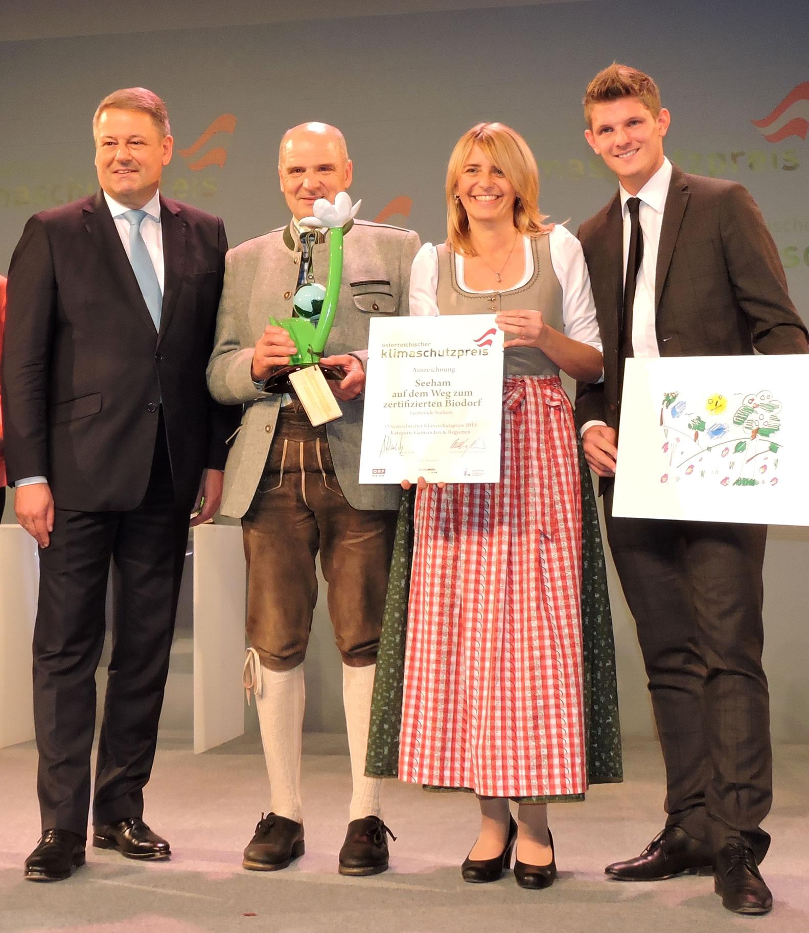 Bundeminister Andrä Rupprechter, Bgm. Peter Altendorfer, Renate Schaffenberger, Christian Morgenstern