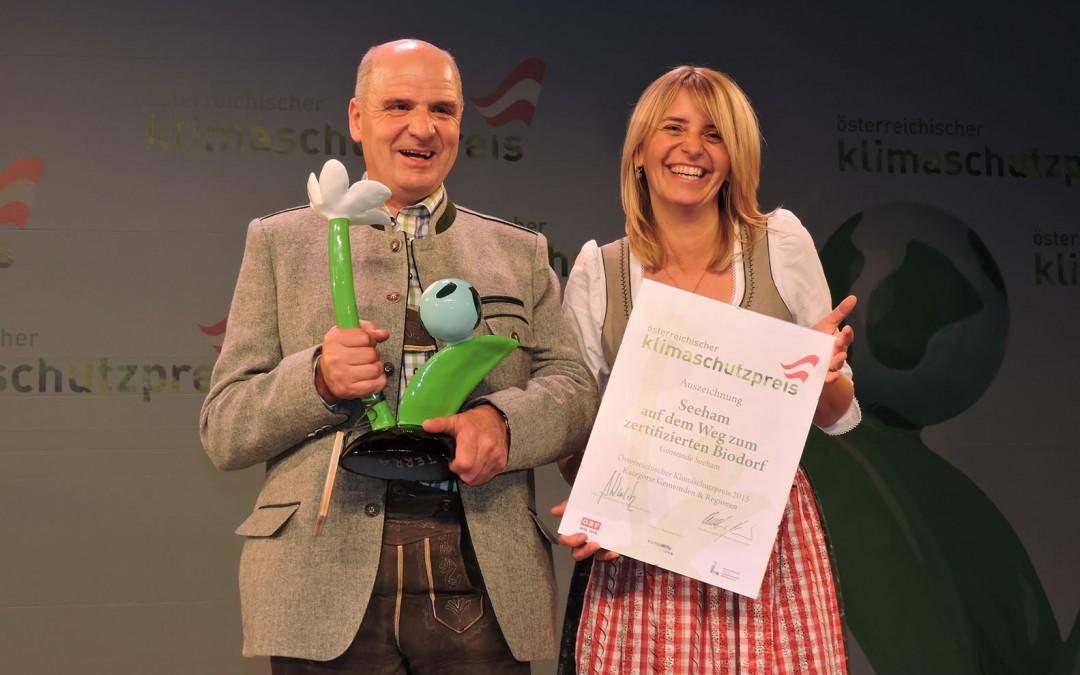 Österreichischer Klimaschutzpreis 2015 gewonnen