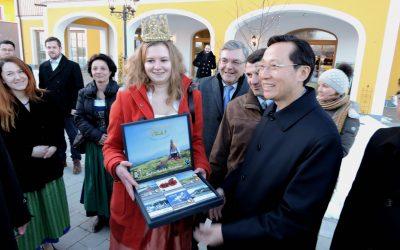 Königin empfängt chinesischen Landwirtschaftsminister